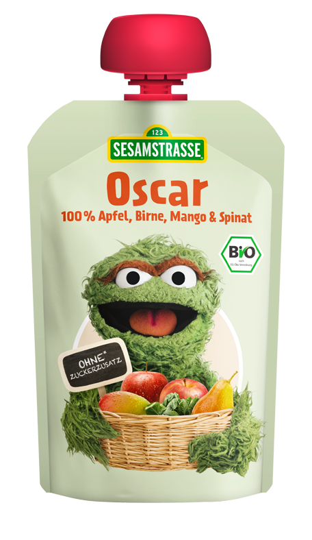 43cd72f4fc ... Organic Oscar Pouch - Fruit and Vegetable Puree with Apple, Pear, Mango  and Spinach Oscar with Apple, Pear, Mango & Spinach ...